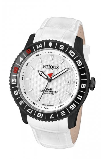 SPORT PRO IONIC with SUMMER WHITE dial and WHITE LEATHER strap