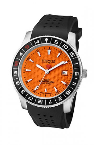 SPORT TOUR with IBERIAN ORANGE dial and BLACK SILICONE strap