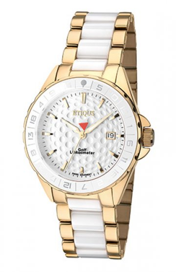 SPORT LADY GOLD PLATED STAINLESS STEEL WHITE CERAMIC