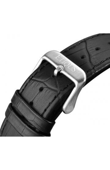 SPORT TOUR BLACK LEATHER strap with STAINLESS STEEL buckle