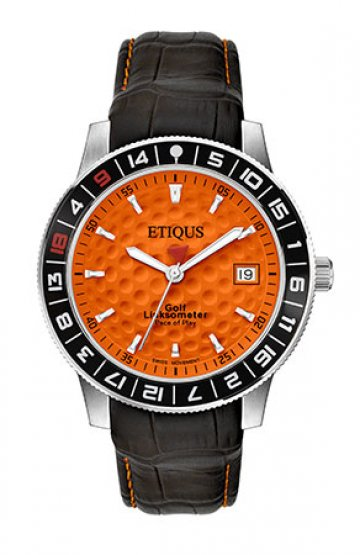 SPORT TOUR with IBERIAN ORANGE dial and BLACK LEATHER strap