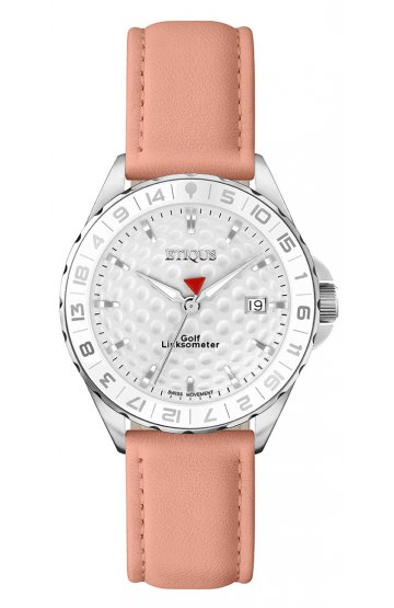 SPORT LADY STAINLESS STEEL with PINK LEATHER STRAP