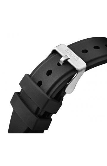 SPORT TOUR BLACK SILICONE strap with STAINLESS STEEL buckle