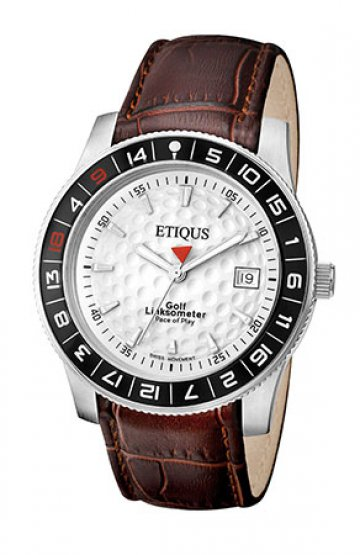 SPORT TOUR with SUMMER WHITE dial and BROWN LEATHER strap