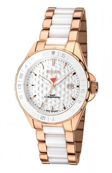 SPORT LADY ROSE GOLD PLATED STAINLESS STEEL WHITE CERAMIC