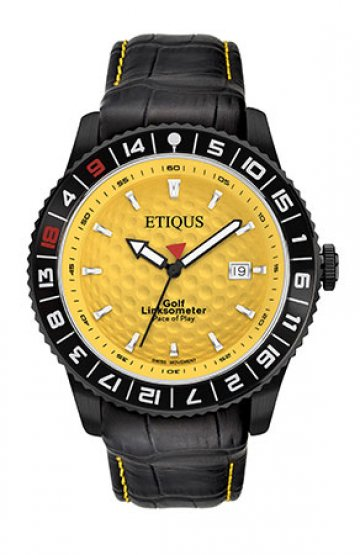 SPORT PRO IONIC with WINTER YELLOW dial and BLACK LEATHER strap