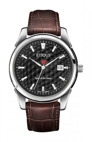 CLASSIC TOUR with NIGHT BLACK DIAL and BROWN LEATHER strap