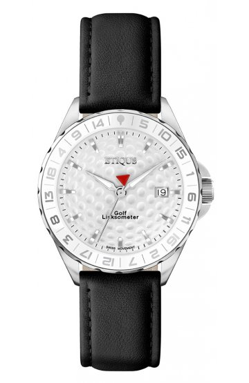 SPORT LADY STAINLESS STEEL WITH BLACK LEATHER STRAP