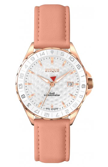 SPORT LADY ROSE GOLD PLATED STAINLESS STEEL with PINK LEATHER STRAP