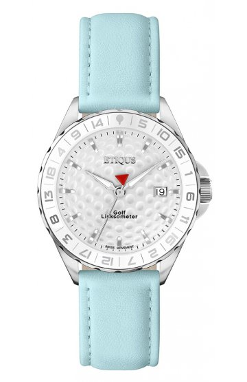 SPORT LADY STAINLESS STEEL with PALE BLUE LEATHER STRAP