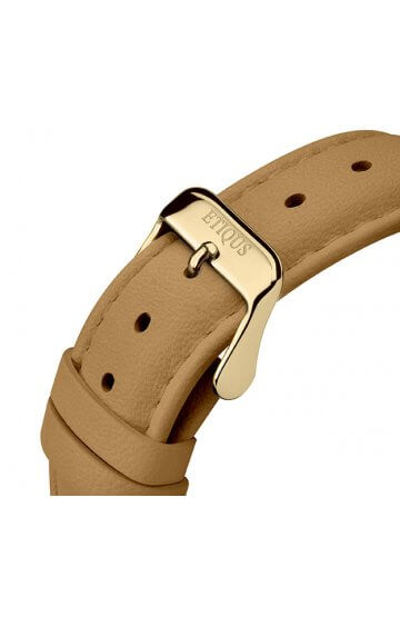 SPORT LADY CAMEL LEATHER strap with GOLD PLATED STEEL buckle