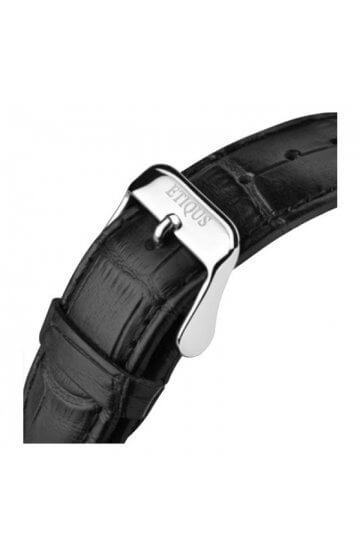 CLASSIC TOUR BLACK LEATHER strap with STAINLESS STEEL buckle