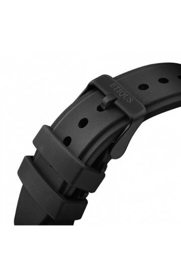 SPORT PRO IONIC BLACK SILICONE strap with BLACK IP buckle