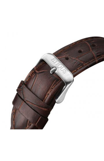 SPORT TOUR BROWN LEATHER strap with STAINLESS STEEL buckle