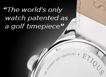 Patented Golf Timepiece