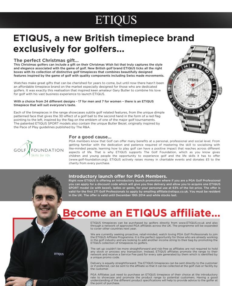 ETIQUS in PGA Professional magazine